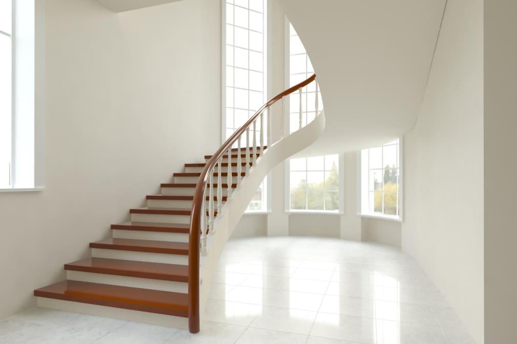Лестница бетонная каплевидная